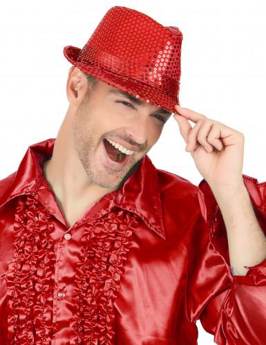Roter Pailletten-Hut für Erwachsene-1