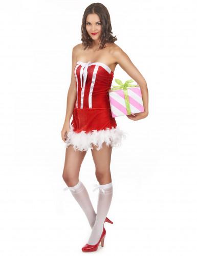 Heißes Weihnachtsfrau-Kostüm für Damen-1