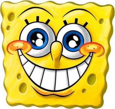 Spongebob Schwammkopf™ Pappmaske