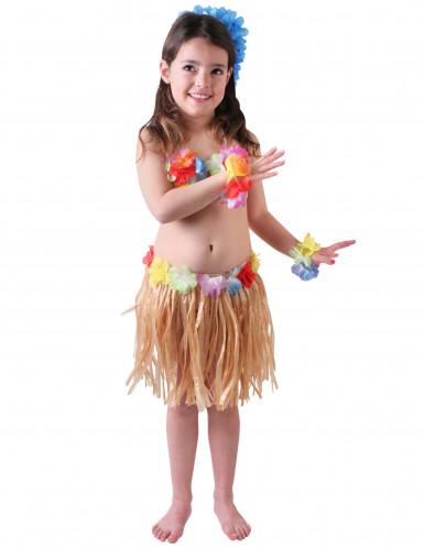 Naturfarbenes Hawaii-Kostüm für Mädchen
