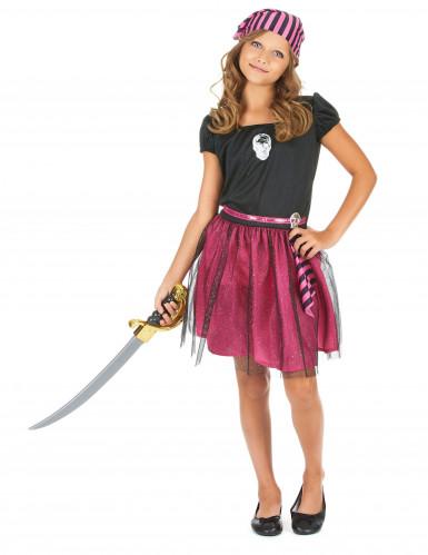 Rosa Seeräuberin-Kostüm für Mädchen