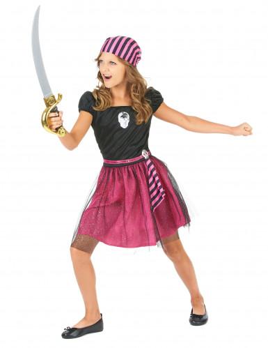 Rosa Seeräuberin-Kostüm für Mädchen-1