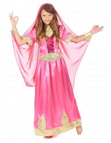 Rosa Bollywood Prinzessinnen-Kostüm für Mädchen