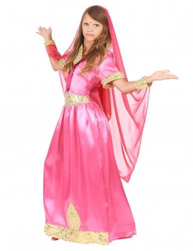 Rosa Bollywood Prinzessinnen-Kostüm für Mädchen-1