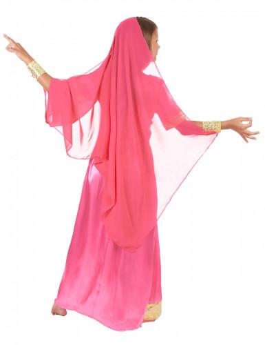 Rosa Bollywood Prinzessinnen-Kostüm für Mädchen-2