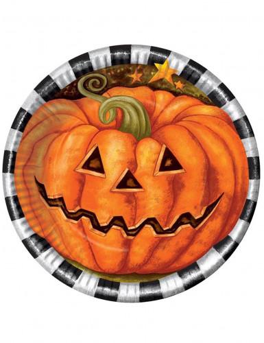 6 Halloween Kürbis Teller