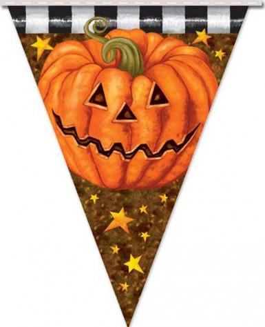 Kürbis-Girlande für Halloween