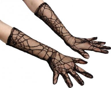 Spinnennetz Handschuhe - Halloween