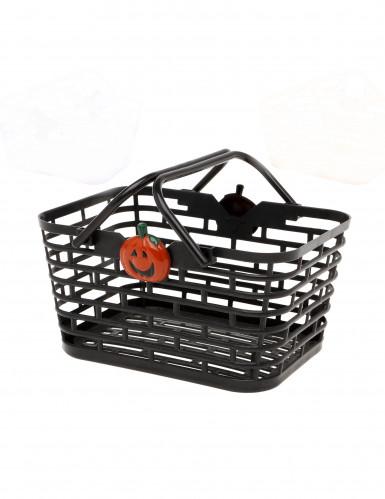 Schwarzer Halloween Bonbon-Korb