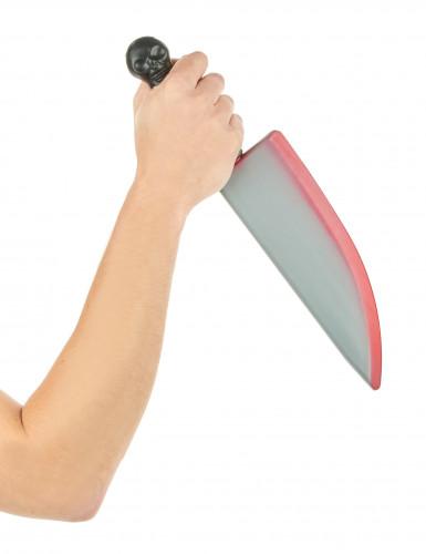 Blutiges Messer aus Kunststoff Halloween-1