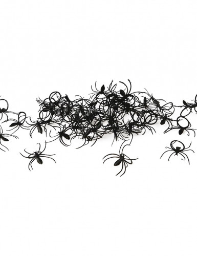 Set 50 Spinnen-Ringe Halloween