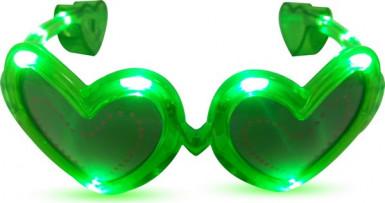 Rosa LED-Brille in Herzform
