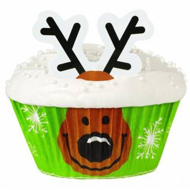 Wilton™ Cupcake Deko-Set Rentier 24-teilig