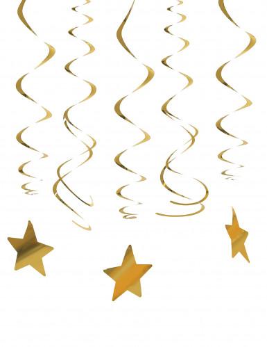 30 Hänge-Dekorationen - Goldener Stern