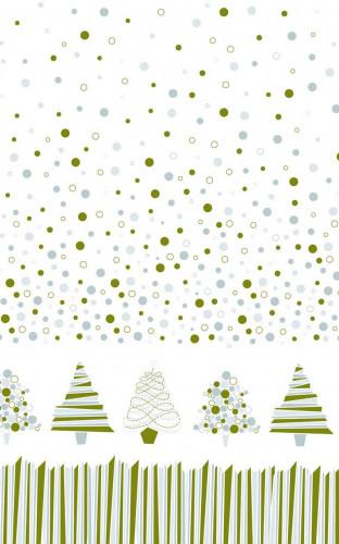 Graphische Weihnachtsbaum Papier Tischdecke