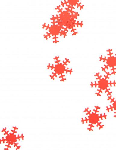 Konfetti rot Weihnachtsflocken