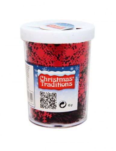 Konfetti rot Weihnachtsflocken-1