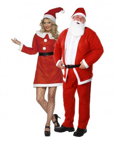 Weihnachtsmann und Weihnachtsfrau Set Paarkostüm