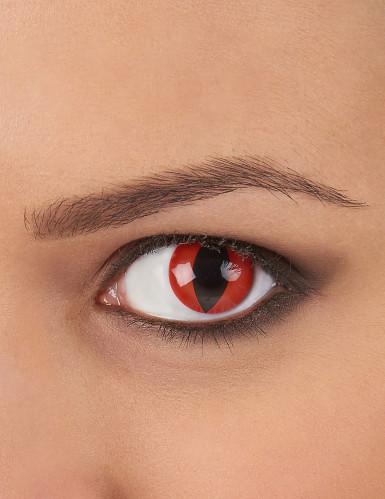 Rote Reptil-Kontaktlinsen
