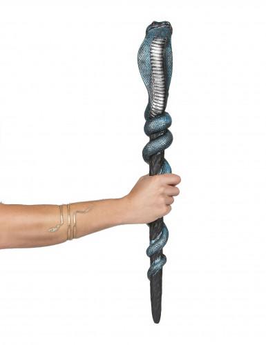 Schlangen-Zepter schwarz-metallicblau 64cm-1