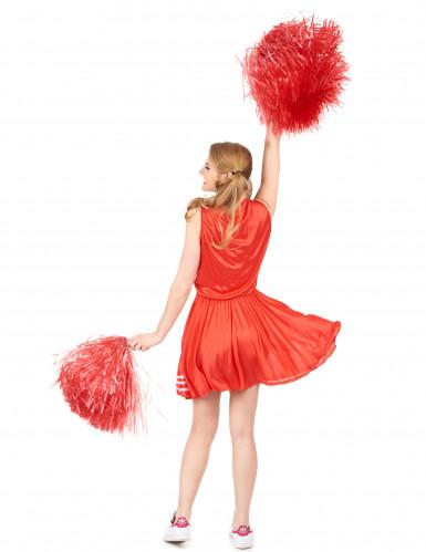 Rotes Pompom-Girl-Kostüm für Damen-2