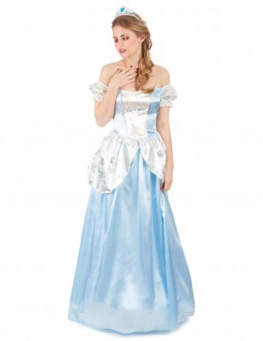 Blaues Prinzessinnen-Kostüm für Damen