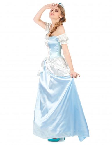 Blaues Prinzessinnen-Kostüm für Damen-1