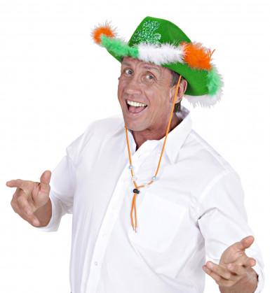 Saint Patrick Cowboy-Hut mit Kleeblatt für Erwachsene
