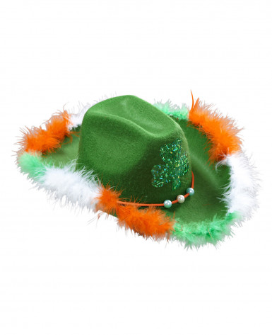 Saint Patrick Cowboy-Hut mit Kleeblatt für Erwachsene-1