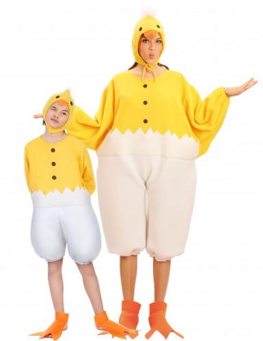 Küken-Paarkostüm für Eltern und Kind