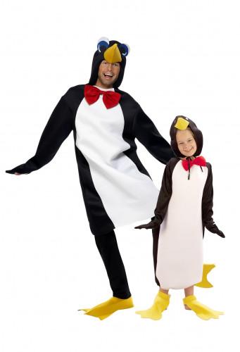 Witziges Pinguin-Paarkostüm für Eltern und Kind