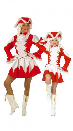 Rotes Tanzmariechen-Paarkostüm für Mutter und Tochter