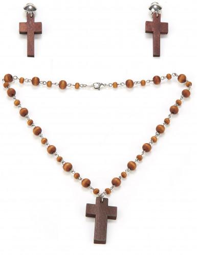 Religiöses Set mit Halskette und Ohrringen für Damen