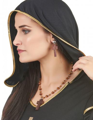 Religiöses Set mit Halskette und Ohrringen für Damen-1