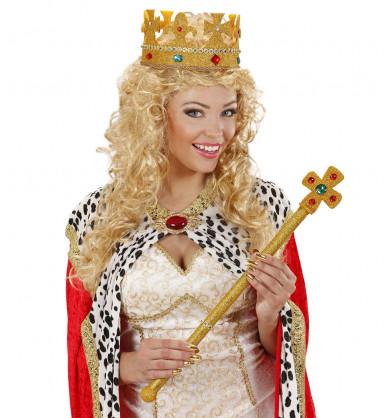 Pompöse, goldene Krone für Erwachsene