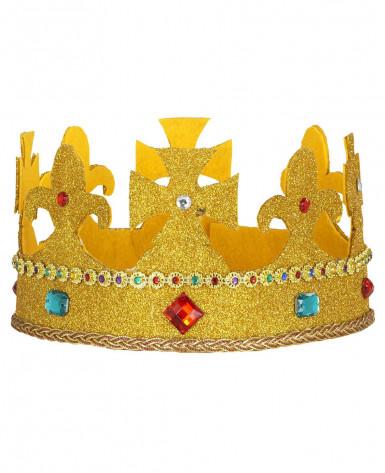 Pompöse, goldene Krone für Erwachsene-1