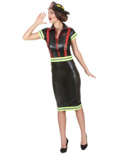 Feuerwehrfrau Kostüm für Damen-1