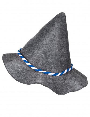 Spitzer bayrischer Hut für Erwachsene grau