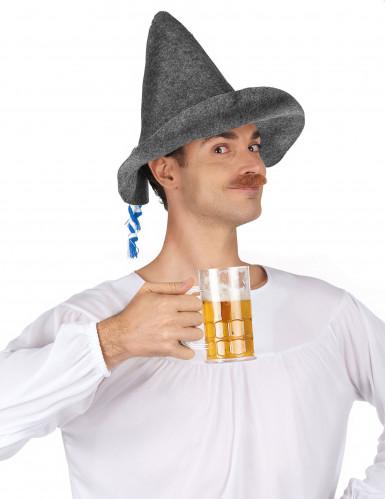 Spitzer bayrischer Hut für Erwachsene grau-1