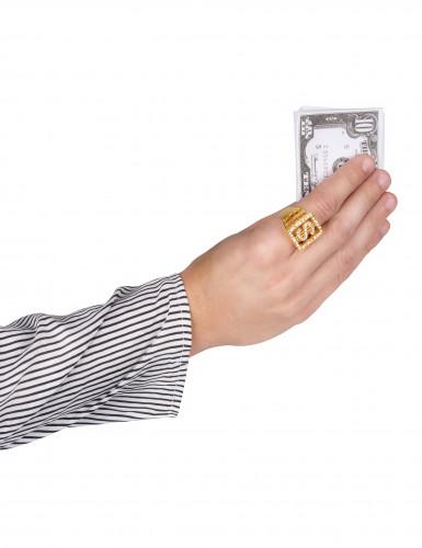 Dollar-Ring mit Strass für Erwachsene-1