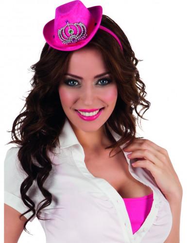 Mini Cowgirl Hut in rosa für Damen