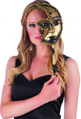 Venezianische Halbmaske schwarz-gold
