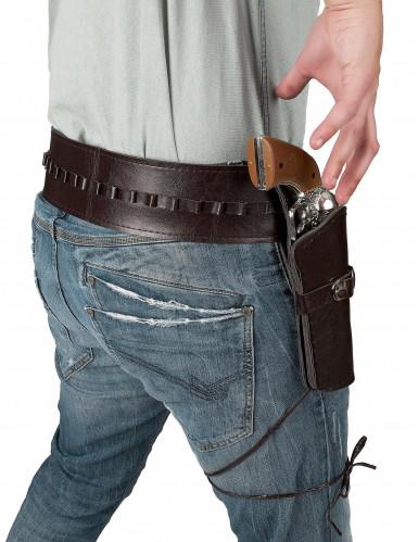 Cowboy-Gürtel mit Waffen-Etui für Erwachsene-1
