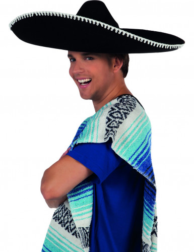 Riesiger schwarzer Sombrero für Erwachsene