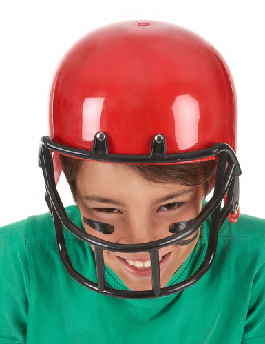 American Football Helm in Rot für Kinder-2