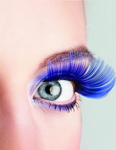 Lange Wimpern in Blau für Erwachsene