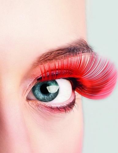 Lange Wimpern in Rot für Erwachsene