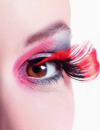Rote Wimpern