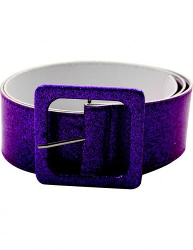 Glitzer Disco Gürtel für Erwachsene - violett