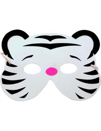 Weiße Tiger-Maske für Kinder